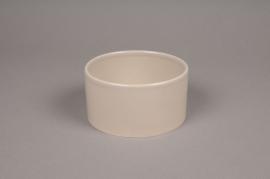 B163WV Grey ceramic bowl D14cm H7cm
