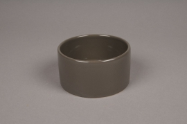 B164WV Grey ceramic bowl D11cm H6cm