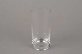 B165W3 Vase en verre cylindre D7.5cm H15.5cm