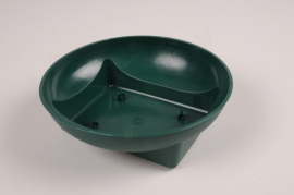 B176QV Bag of 25 green plastic bowls D15.5cm H5cm