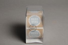 B186QX Box of 500 adhesive labels plaisir d'offrir