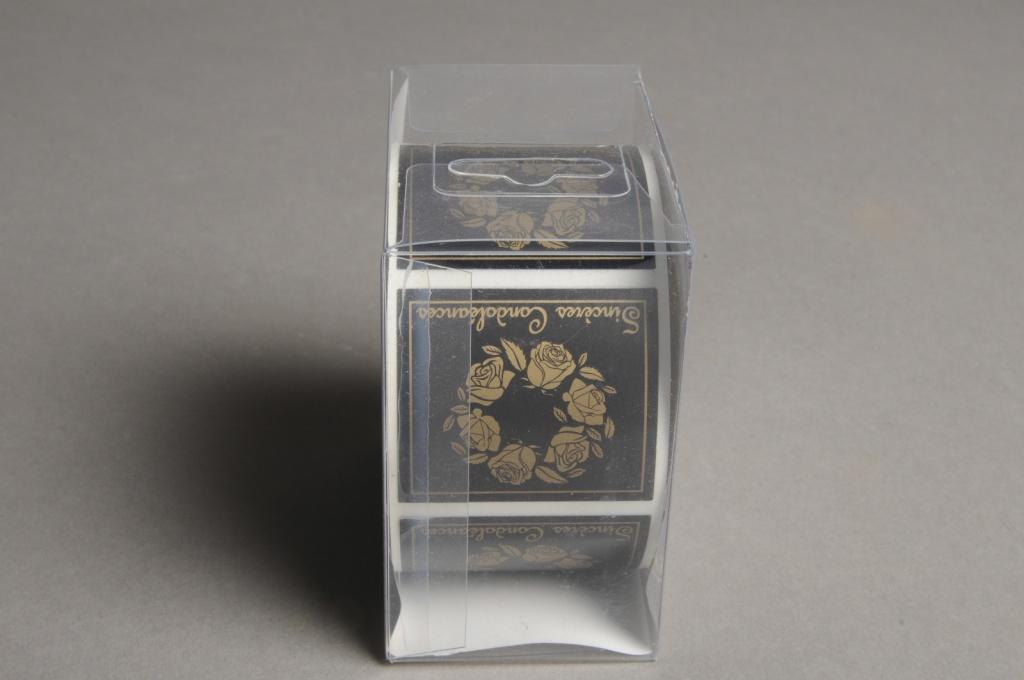 B197QX Boîte de 500 étiquettes Sincères condoléances