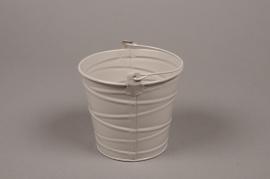 B211WV Zinc bucket taupe D12cm H11cm