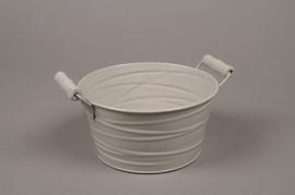 B213WV Zinc bowl dark brown D17cm H8.5cm