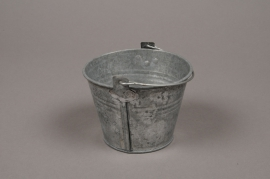 B217WV Bucket zinc natural D11cm H8cm