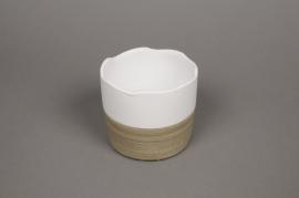 B230LE Cache-pot céramique bicolore D10.5cm H11cm