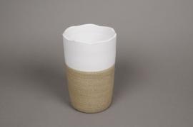 B233LE Vase céramique bicolore D12cm H22cm