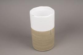 B234LE Vase en céramique blanc D15cm H26cm