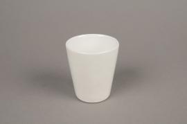 B254WV Pot céramique blanc D7cm H9cm