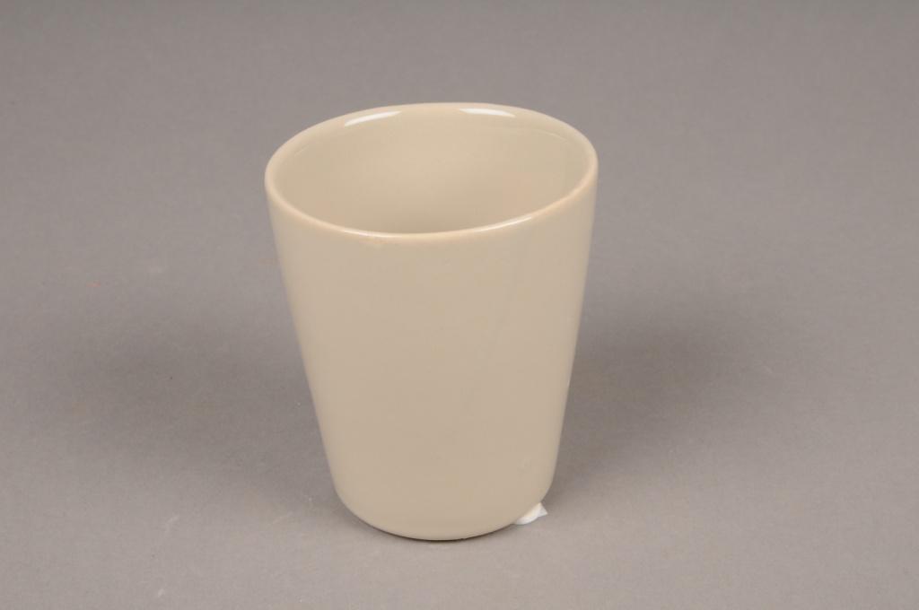 B255WV Brown ceramic pot D7cm H9cm