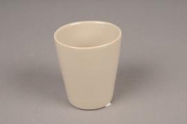 B255WV Pot céramique taupe D7cm H9cm
