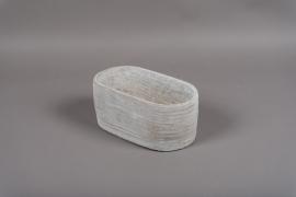 B288WV Jardinière en céramique grise 14.5cm x 27cm H11.5cm
