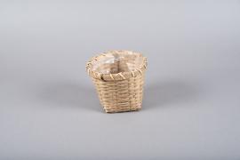 B301LE Cache-pot en osier D15cm H12.5cm