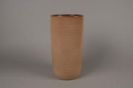 B308LE Vase en céramique vieux rose D17cm H34cm
