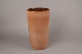 B323LE Vase en céramique vieux rose D22cm H43cm