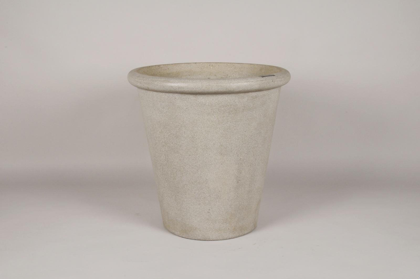 B336LE Cache-pot en béton gris D43.5cm H45cm