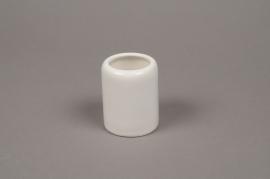 B360WV Vase en céramique blanc D6cm H7.5cm