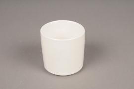 B370WV White ceramic pot D7cm H7,5cm