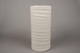 B375WV Ivory ceramic vase D20cm H42cm