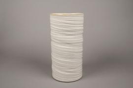 B376WV Vase en céramique ivoire D17.5cm H35.5cm