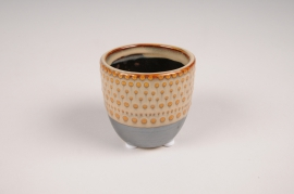 B394LE ethnic ceramic planter pot D7cm H7cm