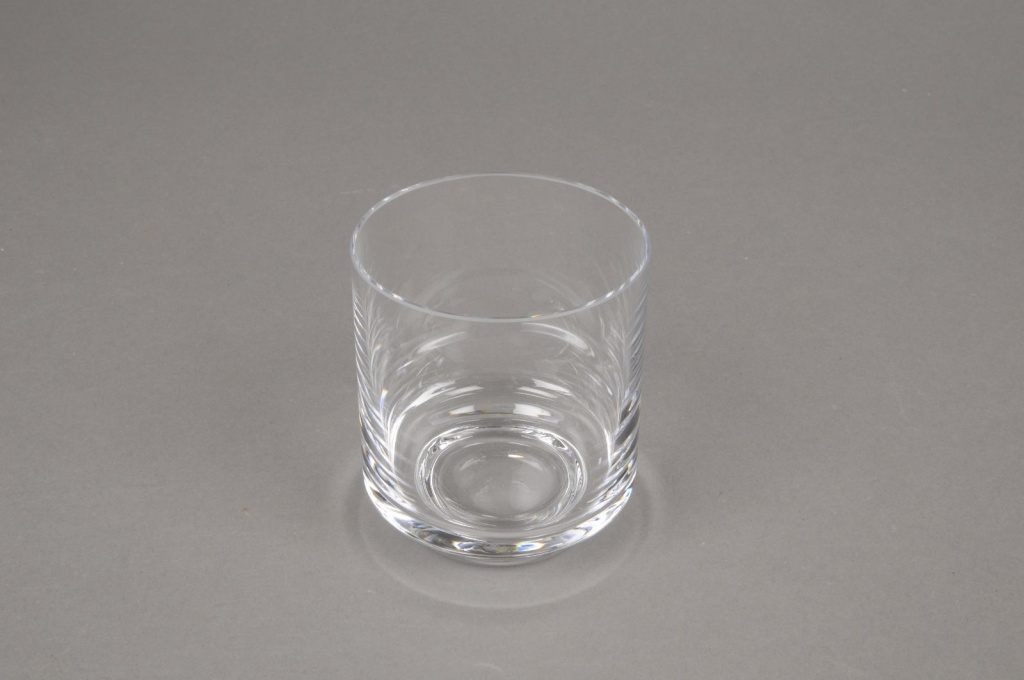 B394W3 Photophore en verre D7cm H8cm