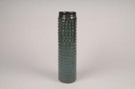 B398LE Green ceramic vase D8cm H34cm