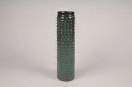 B398LE Vase en céramique vert D8cm H34cm