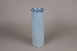 B402WV Blue ceramic vase D12cm H37cm