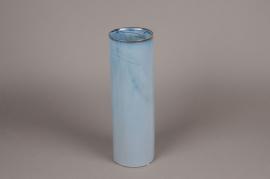 B402WV Vase en céramique bleu D12cm H37cm