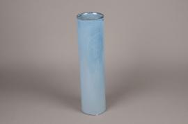 B403WV Vase en céramique bleu D12cm H47cm