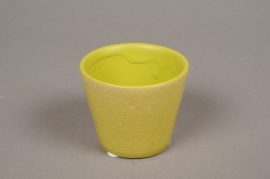 B437WV Green ceramic planter D7cm H6cm