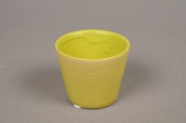 B437WV Green ceramic planter D7cm H6cm