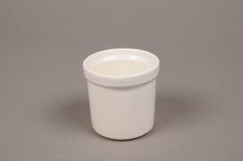 B448WV Pot céramique blanc D6cm H7cm