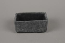 B456WV Jardinière en ciment noir 9 x 16cm H8cm