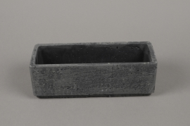 B457WV Black terracotta planter 9 x 24cm H8cm