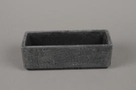 B457WV Jardinière en ciment noir 9 x 24cm H8cm