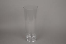 B458W3 Vase en verre évasé D16cm H45cm
