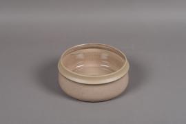 B461WV Brown ceramic bowl D22cm H9.5cm