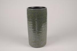 B471LE Vase en céramique vert foncé D14.5cm H29.5cm