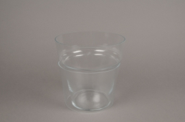 B471WV Glass flared jar D19cm H20cm