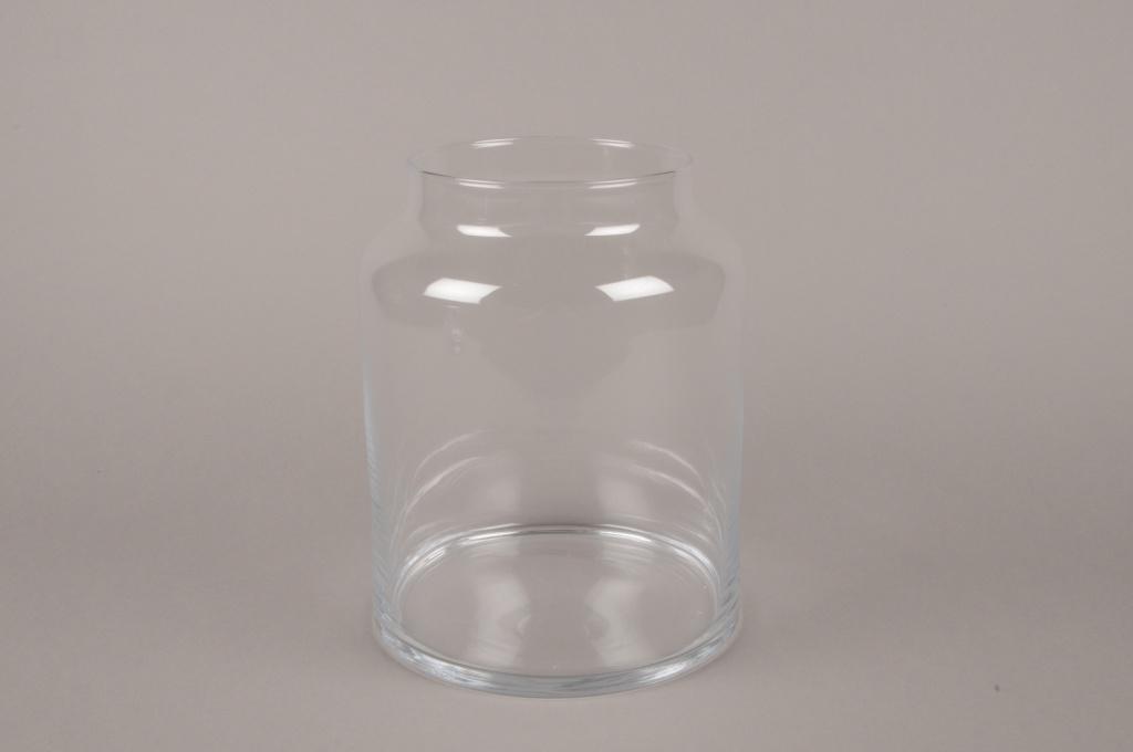 B493W3 Vase bocal en verre D19cm H24.5cm