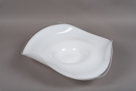 B494W3 White Glass bowl D51cm H15cm