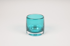 B500W3 Blue glass light holder D9cm H8.5cm