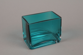 B524W3 Blue Glass window-box 11.5x7.5cm H10cm