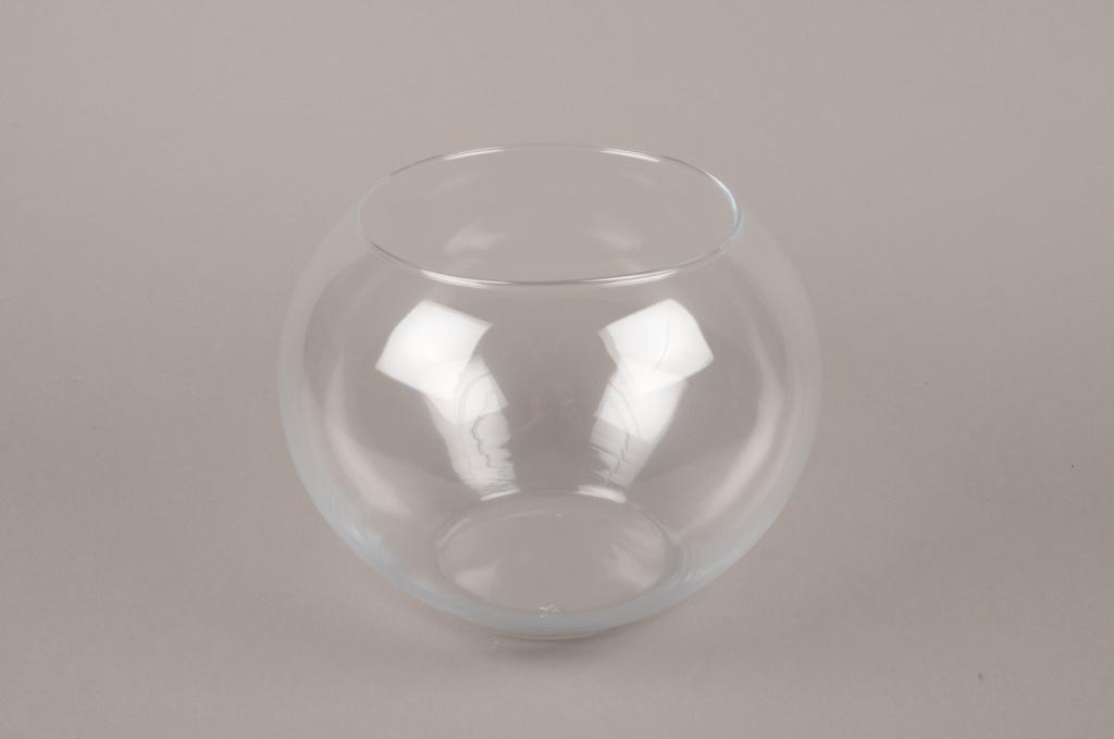 B526W3 Vase en verre boule D25cm H19cm