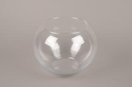 B526W3 Vase glass sphere D25cm H19cm