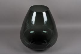 B538W3 Vase en verre obus fumé noir D40cm H50cm