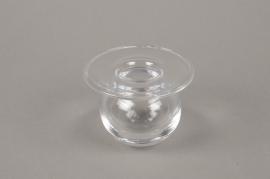 B540W3 Soliflore en verre D8cm H7cm