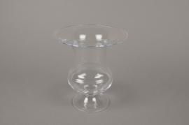 B544W3 Vase médicis en verre D17cm H18cm